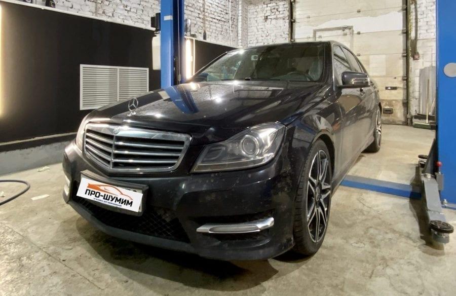 шумоизоляция колесных арок Mercedes W204