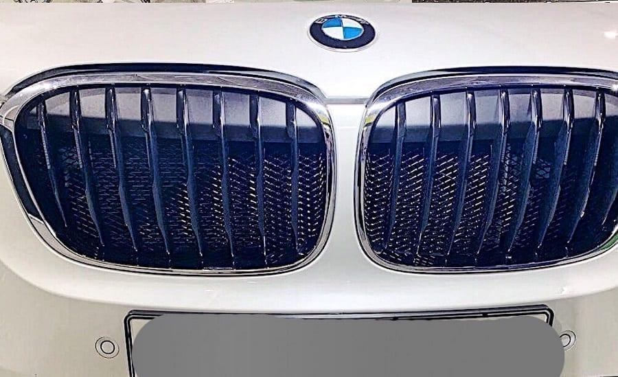 Установка защитной решетки в BMW X1
